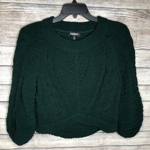Express  Cropped Chenille Sweater Size XS